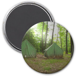 El acampar que va 2010 imán redondo 7 cm
