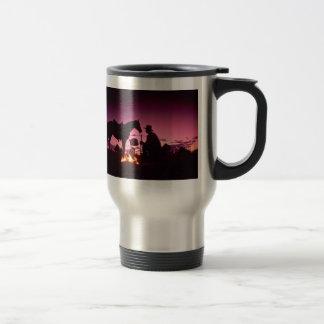 El acampar salvaje del oeste tazas de café