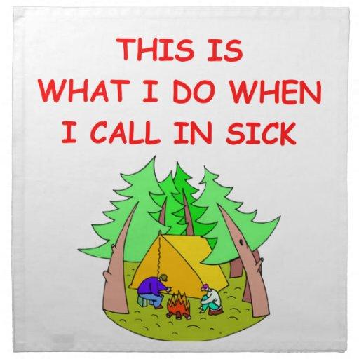 el acampar servilleta imprimida