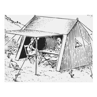El acampar postal