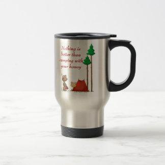 El acampar tazas de café