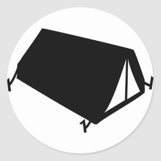 el acampar tiende el icono pegatina redonda