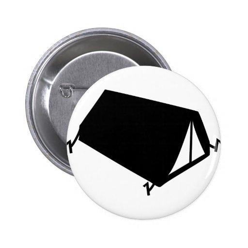 el acampar tiende el icono pin redondo 5 cm