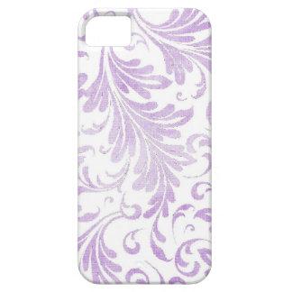 El Acanthus de la acuarela sale lila de blanco Funda Para iPhone 5 Barely There