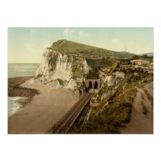 El acantilado de Shakespeare, Dover, Kent, Inglate Poster