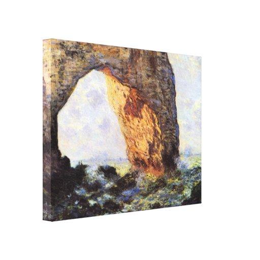 El acantilado en Etretat de Claude Monet Lienzo Envuelto Para Galerias