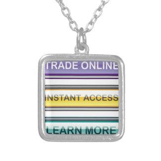El acceso inmediato en línea comercial aprende más colgante cuadrado