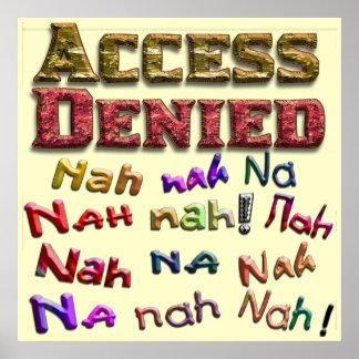 El acceso negó, Nah na del na nah (1) Impresiones