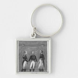El acebo Alliance, 1815 Llavero Cuadrado Plateado