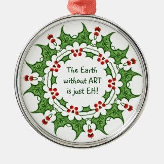 ¡El acebo del navidad la tierra sin ARTE es apenas Adorno Para Reyes