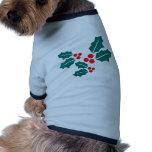 El acebo sale de navidad camiseta de perro