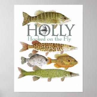 El acebo vuela el poster que ofrece pescados de