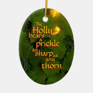 El acebo y el ornamento del navidad de la hiedra ornamentos de reyes magos