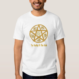 El acebo y el roble, con la Pentagram-T-Camisa Playera