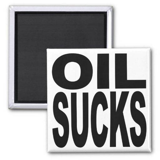 El aceite chupa imán de frigorífico
