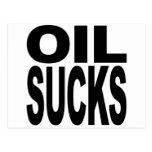 El aceite chupa postal