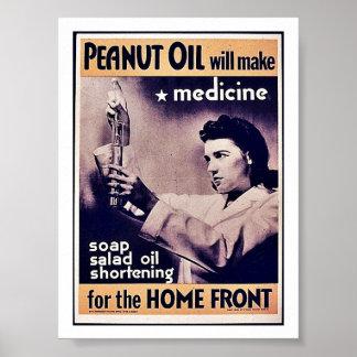El aceite de cacahuete hará la medicina poster