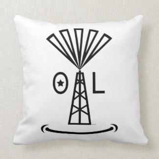 El aceite hace que sonríe almohadas