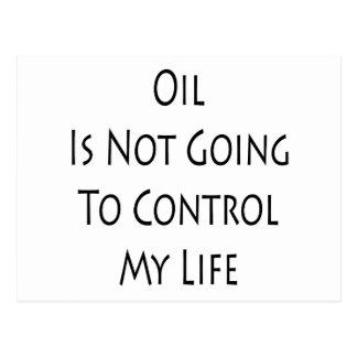 El aceite no va a controlar mi vida postal