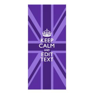 El acento púrpura guarda la calma y su texto Union Plantillas De Lonas