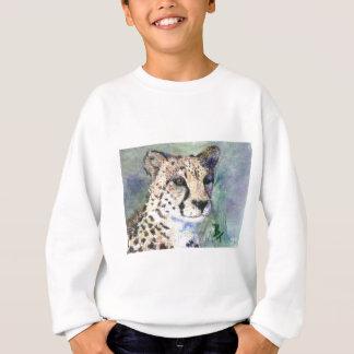 El aceo del retrato del guepardo embroma la sudadera