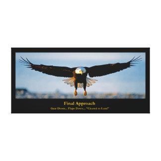 El acercamiento final Eagle calvo envolvió la lona Impresión En Lona Estirada