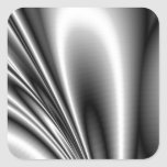 El acero abstracto agita mirada metálica pegatinas cuadradas personalizadas