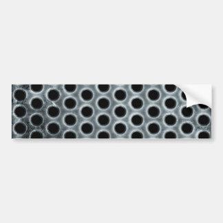 El acero agujerea el modelo de la malla metálica pegatina para auto