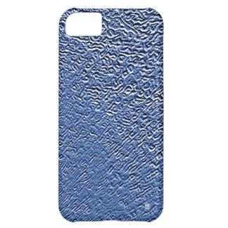 El acero azul del metal graba en relieve la caja d