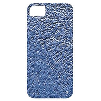 El acero azul del metal graba en relieve la caja d iPhone 5 cárcasas