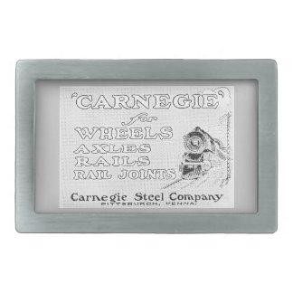El acero de Carnegie para la locomotora rueda la Hebillas Cinturón Rectangulares