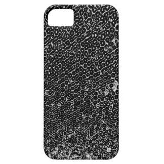 El acero negro del metal graba en relieve la caja  iPhone 5 Case-Mate fundas