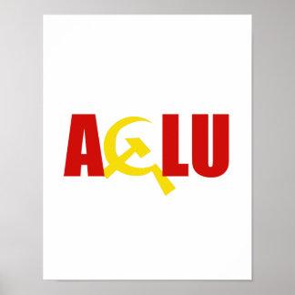 El ACLU es comunista Póster