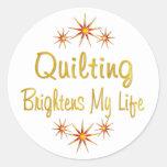 El acolchar aclara mi vida etiqueta