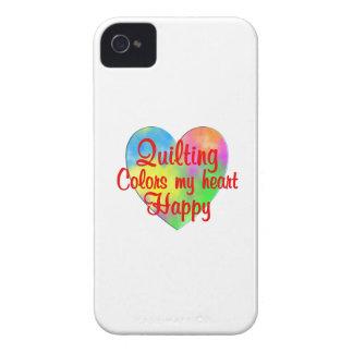 El acolchar colorea mi corazón feliz funda para iPhone 4