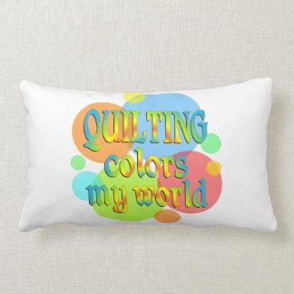 El acolchar colorea mi mundo almohadas