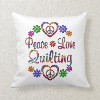 El acolchar colorido del amor de la paz cojin