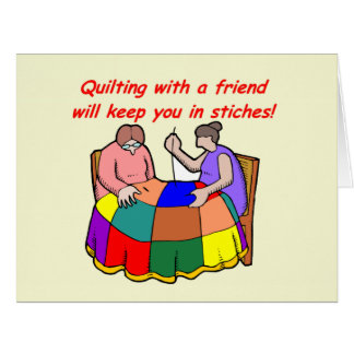 El acolchar con un amigo tarjeta de felicitación grande