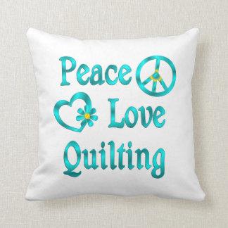El acolchar del amor de la paz almohadas