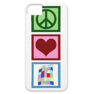 El acolchar del amor de la paz iPhone 5 protector
