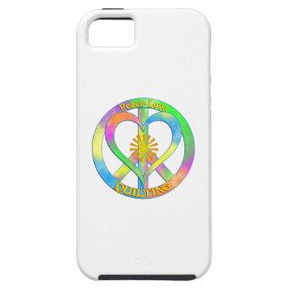 El acolchar del amor de la paz funda para iPhone SE/5/5s