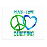 El ACOLCHAR del amor de la paz Postal