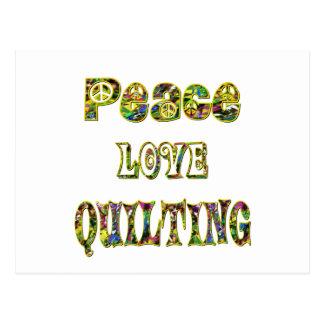 El acolchar del amor de la paz postales