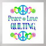 El acolchar del amor de la paz poster