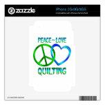 El ACOLCHAR del amor de la paz Calcomanías Para El iPhone 3