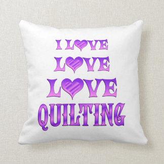 El acolchar del amor del amor almohadas
