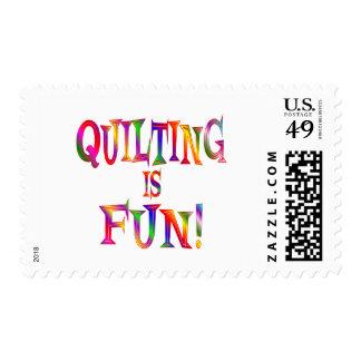 El acolchar es diversión timbre postal
