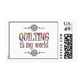 El acolchar es mi mundo sellos postales