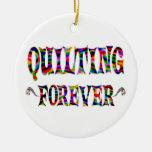 El acolchar para siempre ornamento para arbol de navidad