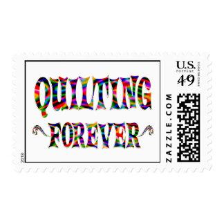 El acolchar para siempre sello postal